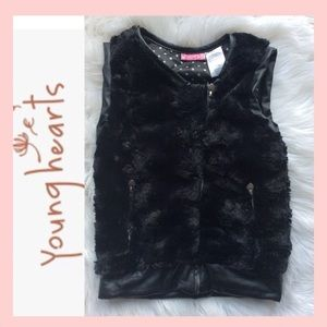 YOUNG 💕 HEARTS Faux Fur Vest